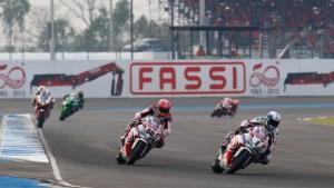 Superbike: Guintoli e Van der Mark non brillano in Thailandia