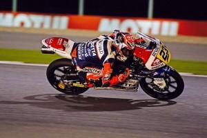 Moto3 Qatar: Microfono ad Antonelli, Bagnaia, Locatelli, Fenati, Bastianini, Tonucci, Ferrari, Migno e Bezzecchi