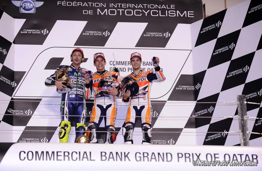 MotoGP: I numeri del GP del Qatar 2015, Pedrosa può eguagliare Doohan, Lorenzo e Stoner i più vincenti