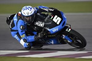 Moto3 Prove Libere Qatar: Iniziano alla grande gli italiani, Antonelli 2°,  Fenati 5° e Bagnaia 6°