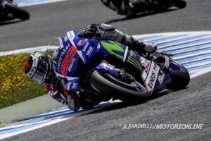 MotoGP Jerez: Lorenzo conquista la pole, Iannone 3° dietro a Marquez, Rossi è 5°