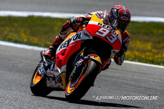 """MotoGP Test Jerez: Marc Marqez """"Ho girato poco, solo per provare un nuovo forcellone"""""""