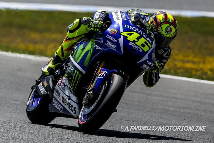 """MotoGP Jerez: Valentino Rossi, """"Gara difficile, oggi Lorenzo è stato incredibile"""""""