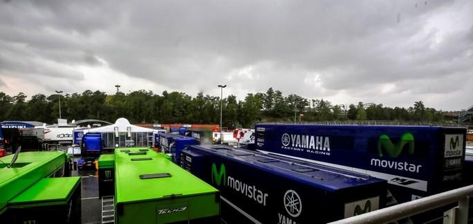 MotoGP Barcellona, Test: Yamaha cancella la sessione di test in Catalunya a causa del maltempo