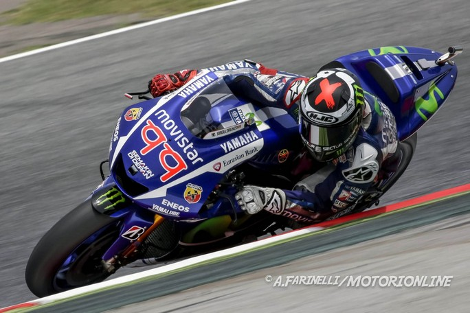 MotoGP Barcellona, Warm Up: Lorenzo al Top, seguono Vinales e Marquez