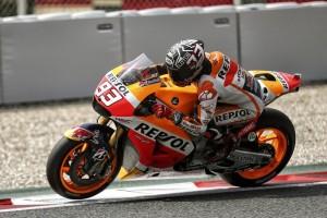MotoGP Test Catalunya: Marc Marquez in pista con il vecchio telaio