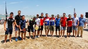 Superbike: Sfida a beach tennis per i piloti