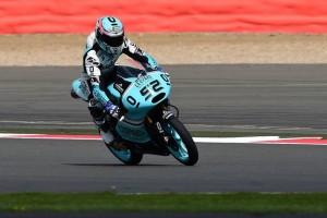 Moto3 Silverstone, Warm Up: Kent leadership con caduta, Antonelli è sesto