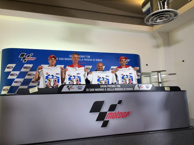 MotoGP Misano: Dovizioso, Iannone, Ciabatti e Capirossi a sostegno di #TIMguardaavanti