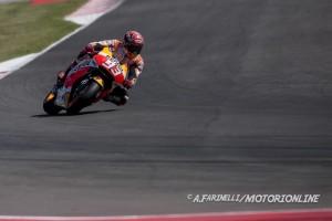 MotoGP Misano Warm Up: Marquez in testa, bene Iannone, Rossi è sesto