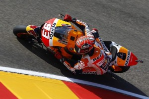 MotoGP Aragon, Warm Up: Marquez in testa, Rossi è quarto