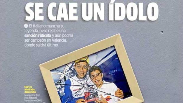 MotoGP: La stampa spagnola condanna Valentino Rossi