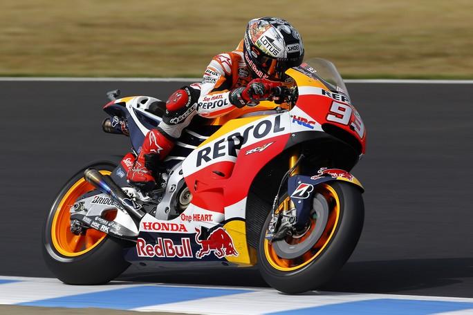 MotoGP Phillip Island: Marquez è il più veloce delle FP2 davanti a Lorenzo, Rossi è nono