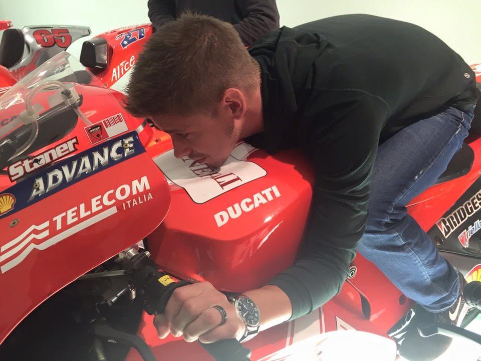 """MotoGP: Casey Stoner: """"Grande sensazione essere sulla Ducati"""""""