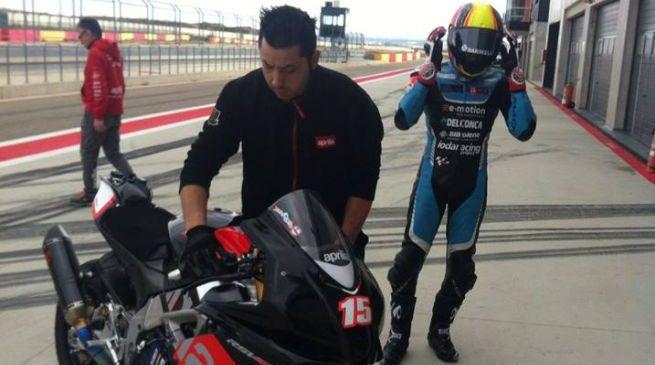 Superbike: De Angelis in pista con la nuova RSV4 RF
