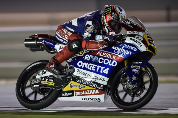 """Moto3 Gp Qatar: Niccolò Antonelli 9° """"Non mi sento bene fisicamente, ma il feeling con la moto è buono"""""""