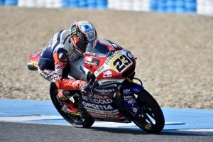 I piloti delle classi Moto2 e Moto3 in pista a Jerez
