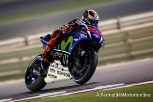 """MotoGP Test Qatar: Jorge Lorenzo """"Anche se non ho fatto alcun miglioramento sono sempre tra i primi"""""""