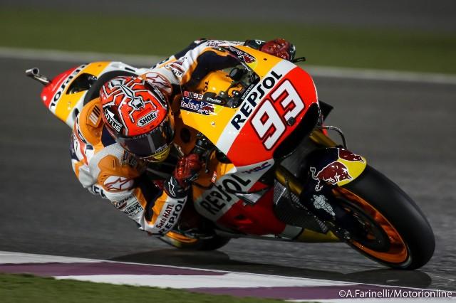 """MotoGP Qatar: Marc Marquez """"Sono contento, il feeling è ottimo e domani voglio fare una bella gara"""""""