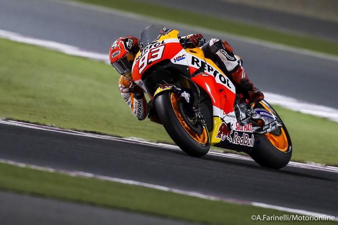 MotoGP Qatar, Warm Up: Marquez al Top, Rossi è quarto
