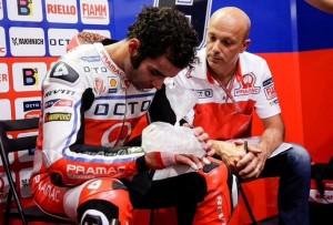 MotoGP: Danilo Petrucci sarà operato di nuovo oggi alla mano destra