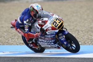 Moto3 Jerez: Antonelli 5° a causa di una caduta