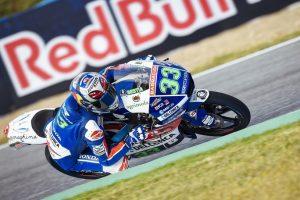 Moto3 Jerez: Bastianini 6°, peccato per la scivolata; Di Giannantaonio 22°