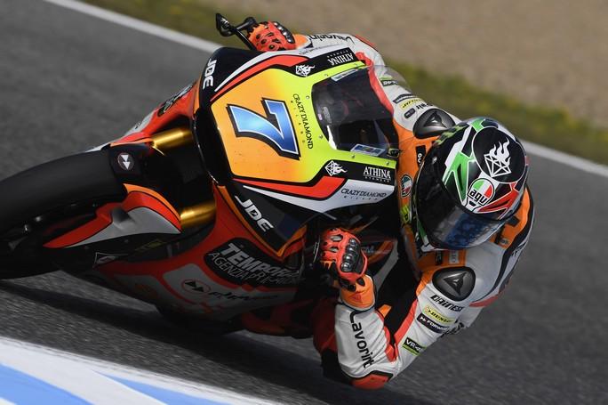 Moto2 Jerez, Prove Libere 3: Miglior tempo per Baldassarri, Morbidelli è terzo
