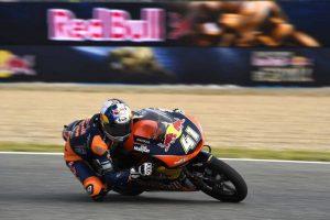 Moto3 Jerez, Warm Up: Binder davanti a Bastianini