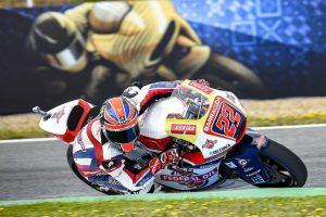 Moto2 Jerez, Warm Up: Lowes, miglior tempo e caduta