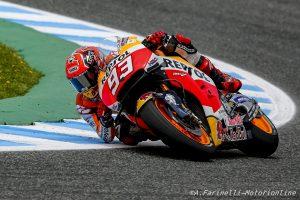 MotoGP Jerez, Warm Up: Marquez davanti a Rossi