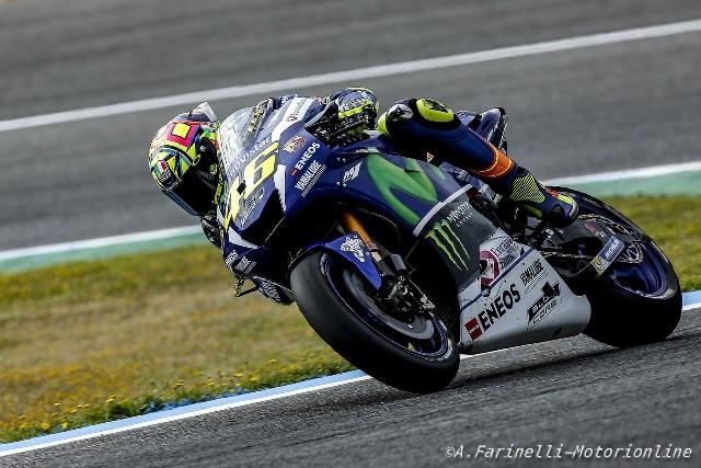 """MotoGP Test Jerez: Valentino Rossi """"Abbiamo provato nuove gomma Michelin e un nuovo serbatoio"""""""