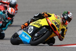 Moto2 Austin: Rins in pole, paura per Vazquez
