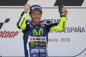 """MotoGP Jerez: Valentino Rossi, """"Vincere qui è come farlo al Camp Nou"""""""