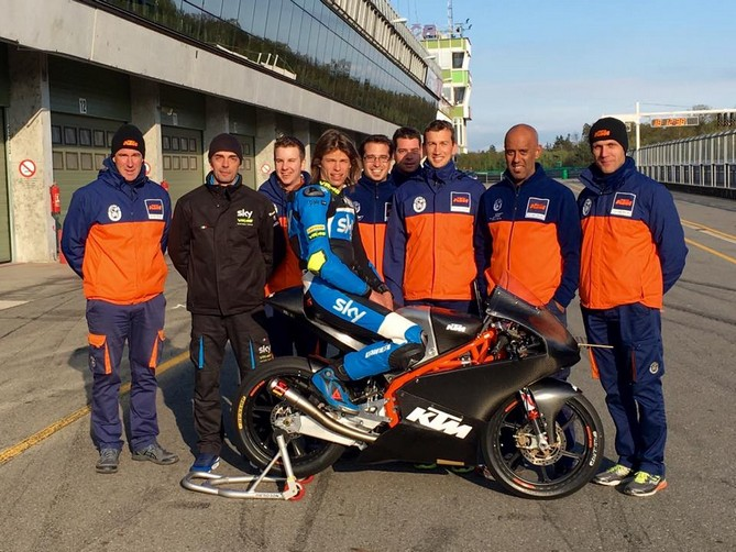 Moto3: Test a Brno per Nicolò Bulega