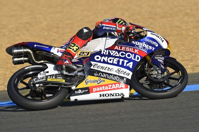 Moto3 Francia: Antonelli 11° a causa di una caduta