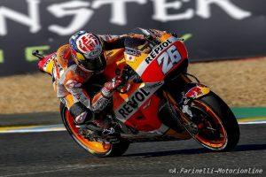 """MotoGP Qualifiche Le Mans: Dani Pedrosa """"Ho perso l'anteriore è sono caduto domani devo scegliere la gomma migliore"""""""
