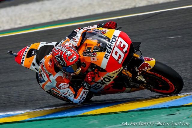 """MotoGP Le Mans: Marc Maquez """"Peccato per la caduta, quest'anno prima di sorpassare devo pensarci bene"""""""