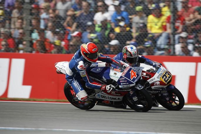 Moto3 Assen: Di Giannantonio ancora a podio 2°, Bastianini out