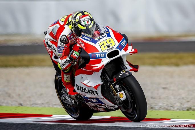 MotoGP Assen, Prove Libere 2: Iannone si conferma al comando, Rossi è secondo