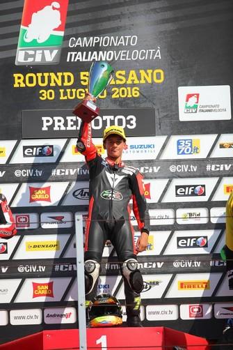CIV Misano: in gara 2 replicano Bezzecchi, Pirro e Fusco