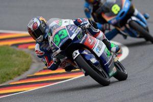 Moto3 Sachsenring: Bastianini in pole davanti a Locatelli, Antonelli out