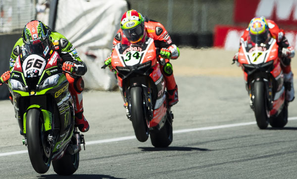 Superbike Laguna Seca, Gara 2: spettacolo Ducati