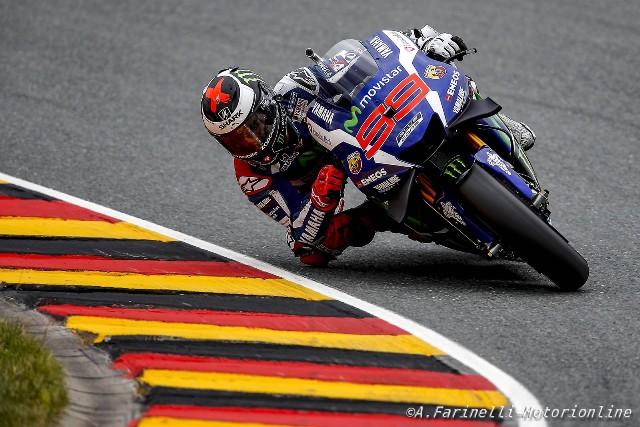 """MotoGP Sachsenring: Jorge Lorenzo """"Non sentivo l'anteriore e non avevo feeling ne in frenata ne in curva"""""""