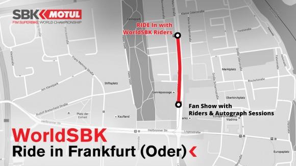 Superbike: I piloti hanno girato per le vie di Francoforte