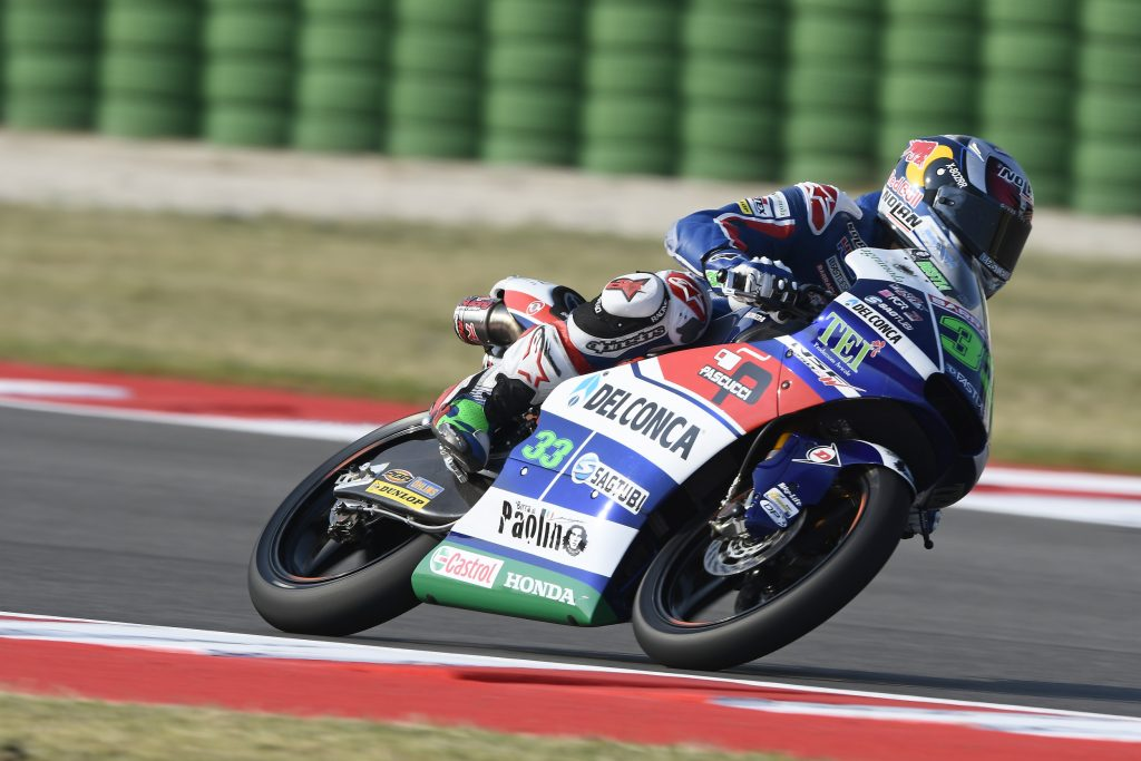 Moto3 Misano: il Gresini Racing Team parte con il piede giusto, Bastianini 1° e Di Giannantonio 5°