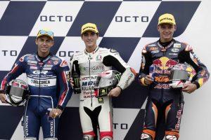 Moto3 Silverstone: Bastianini splendido 2° sul bagnato, Di Giannantonio solo 25°
