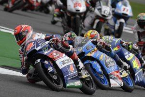 Moto3 Silverstone: Di Giannantonio da 25° a 6°, Bastianini 8°
