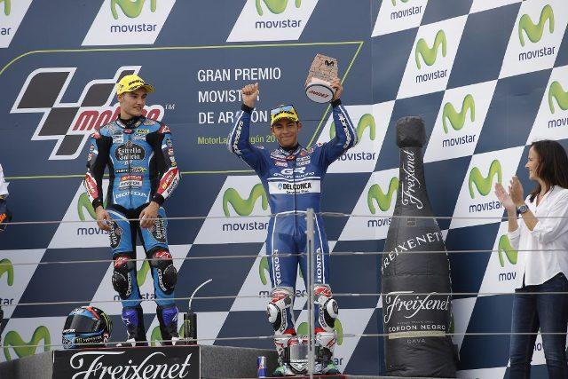 Moto3 Aragon: Garone del team Gresini che chiude 3° e 4° con Bastianini e Di Giannantonio