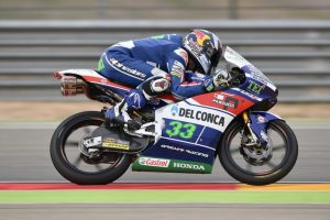 Moto3 Aragon: Pole position per Enea Bastianini